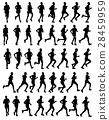 marathon, run, silhouette 28459959