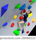Bouldering image perming3DCG插圖素材 28460222
