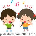 孩子们在卡拉OK唱歌 28461715
