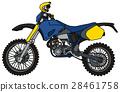 Blue racing cross motorcycle 28461758