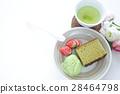카스테라와 녹차 아이스크림 28464798