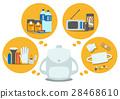 插图素材:防灾用品平面设计矢量 28468610