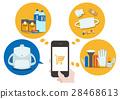 Illustration material: Shopping Disaster prevention goods Flat design vector 28468613