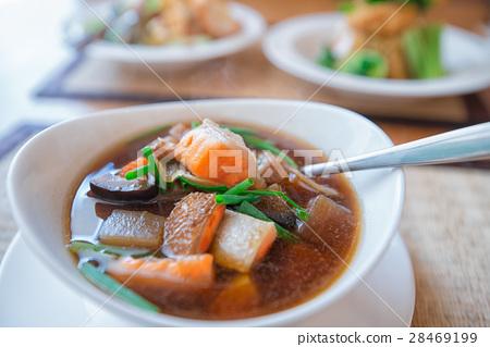 Salmon soup 28469199