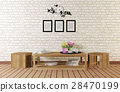 Minimal style room with simple designed furnitures 28470199