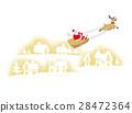 크리스마스, 순록, 산타 28472364