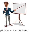 businessman, presentation, standing 28472612