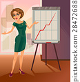 Vector business woman 28472688