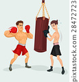 Vector illustration of a boxer 28472723