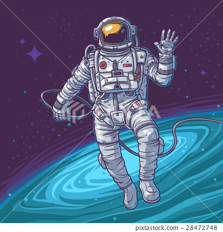 Vector illustration cosmonaut 28472748