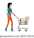cart, woman, shop 28473029