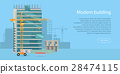 Building Web Banner. Skyscraper. Floors with Glass 28474115