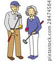 年长 盛大的高尔夫 女生 28474564