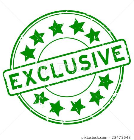 Grunge green exclusive round rubber seal stamp 28475648