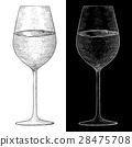 wine glass sketch 28475708