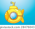Yellow submarine cartoon vector art, Illustration. 28476043