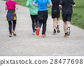 Fitness sport Group of people running 28477698