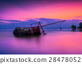 Boat capsized on beach 28478052