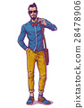 Vector illustration of a fashionable guy 28478906