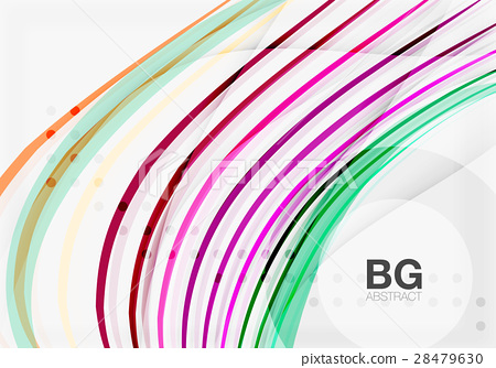 Wave lines abstract background 28479630