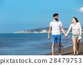 walking beach couple 28479753