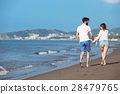 walking, beach, couple 28479765