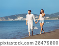 walking, beach, couple 28479800