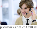Smiling young call center executive at startup 28479830