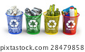 Trash bins for recycle paper, plastic, glass  28479858