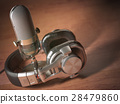 headphone, microphone, retro 28479860