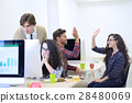 Business man at startup office having concerns 28480069