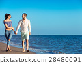 walking, beach, couple 28480091