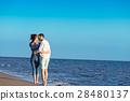 walking, beach, couple 28480137