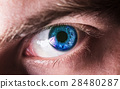 beautiful human eye, macro, close up  blue, yellow 28480287