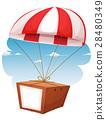 Cardboard Shipping Via Airmail 28480349