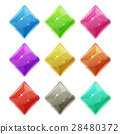 diamond, crystal, icon 28480372