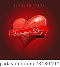 Happy Valentine's Day Love Card 28480404