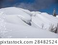 overhanging snow, winter mountain, shiga prefecture 28482524