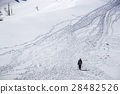 winter mountain, frozen field, shiga prefecture 28482526