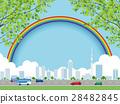 cityscape, rainbow, city 28482845