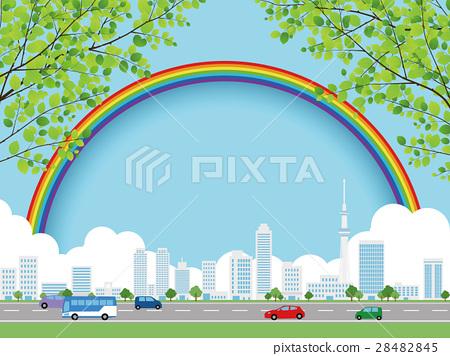 城市風光 城市景觀 市容 28482845
