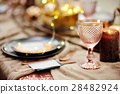 Table set for wedding reception or party 28482924