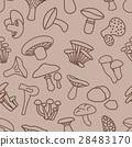 mushroom seamless pattern in brown colour 28483170