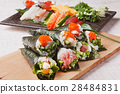 手卷寿司 寿司 紫菜卷醋饭 28484831