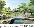 Hokuriku Tourism Kanazawa Kenrokuen Sketch Painting Watercolor painting Cool Japan 28485369