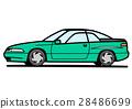 90年代風クーペ ライトグリーン 28486699