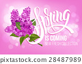 spring coming vector 28487989