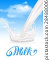 Milk splash 28488006