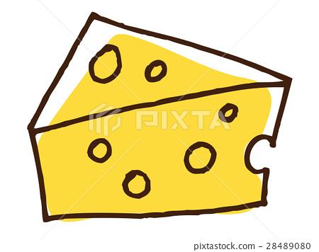 穿孔的乳酪的例證 28489080