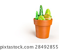 3D rendering of stones decoration on a pot 28492855